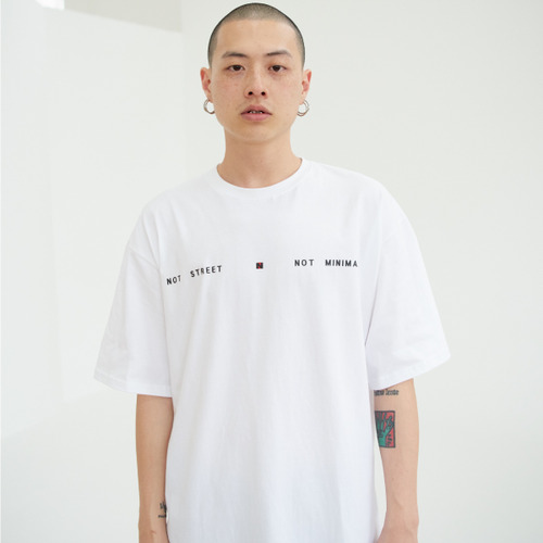 [NOT N NOT]NOT STREET&MINIMAL OVER T-SHIRTS - WHITE