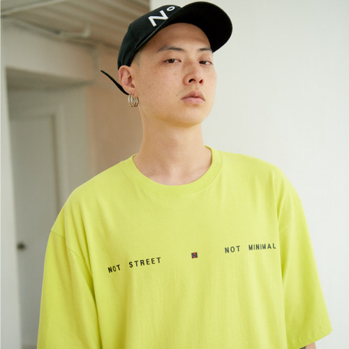 [NOT N NOT]NOT STREET&MINIMAL OVER T-SHIRTS - NEON-YELLOW