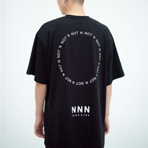 [NOT N NOT]NOT BACK LOGO OVER T-SHIRTS - BLACK