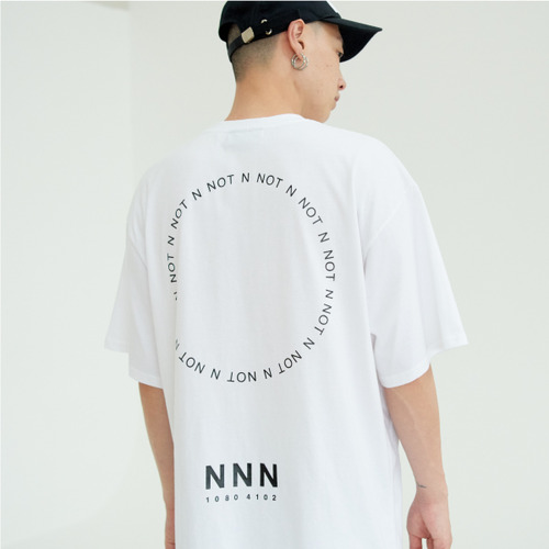 [NOT N NOT]NOT BACK LOGO OVER T-SHIRTS - WHITE