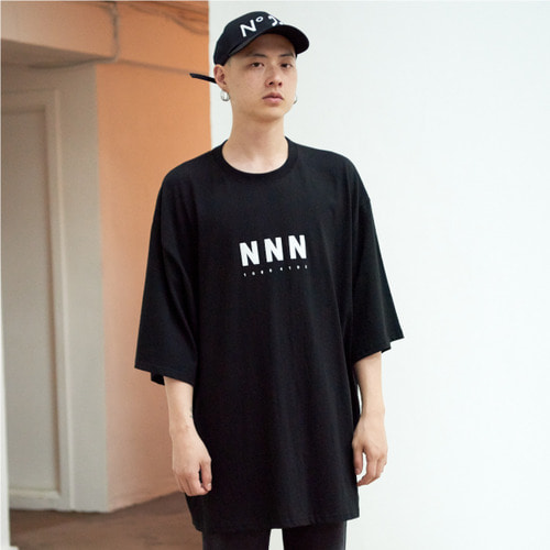 [NOT N NOT]NOT SUPERSIZE T-SHIRTS - BLACK