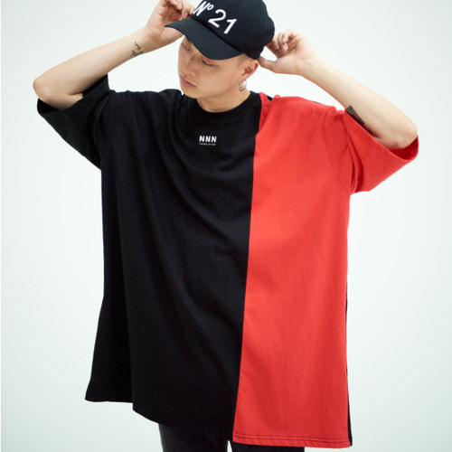 [NOT N NOT]NOT MIX SUPERSIZE T-SHIRTS - BLACK