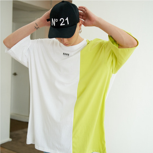 [NOT N NOT]NOT MIX SUPERSIZE T-SHIRTS - WHITE