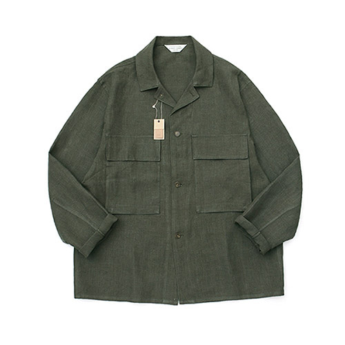 [LAFUDGESTORE][프리미엄] Ancho Wide Shirt Jacket_Khaki