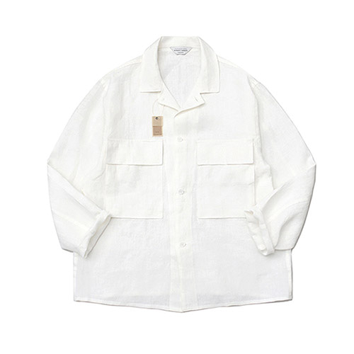 [LAFUDGESTORE][프리미엄] Ancho Wide Shirt Jacket_White