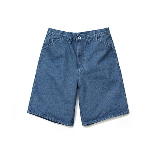 [LAFUDGESTORE]Wide Denim Shorts
