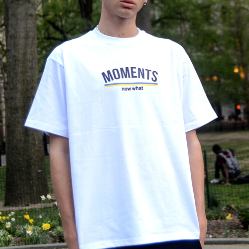 [now what] MOMENTS Logo T (White)