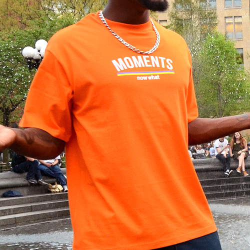 [now what] MOMENTS Logo T (Orange)