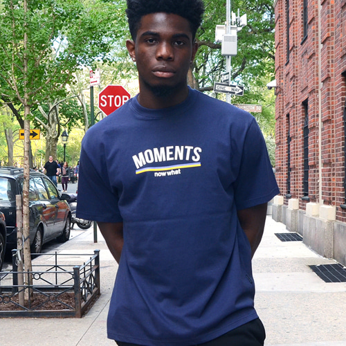 [now what] MOMENTS Logo T (Navy)