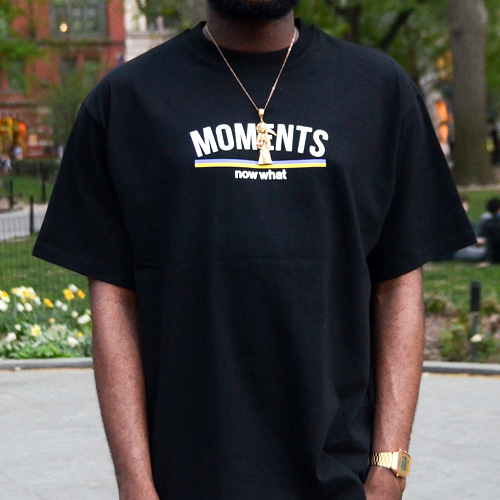 [now what] MOMENTS Logo T (Black)