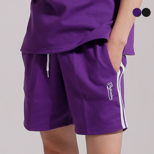 [GINGHAMBUS]SIDE TWO STRIPES TRACK SHORTS(2color)(unisex)