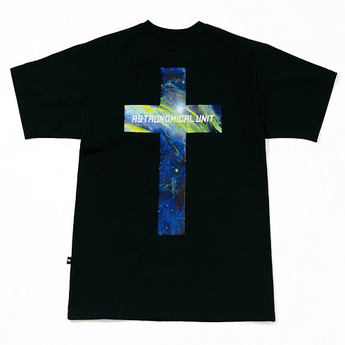 [0.387AU] Planet-Cross Black T-shirt