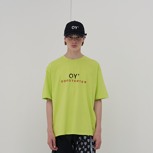 [OY] OY EMBROIDERY T - LIME
