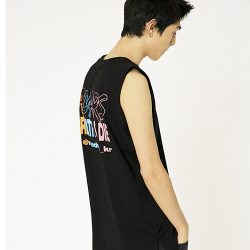 [매드마르스]3 COLOR PRINTING SLEEVELESS