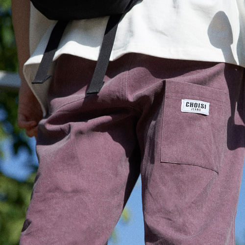 [choisi]Droop Pocket Detail Pants, Purple