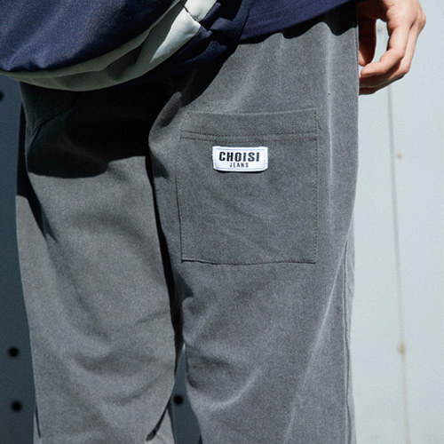 [choisi]Droop Pocket Detail Pants, Charcoal