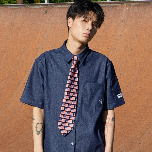 [choisi]Basic Silhouette Denim Shirt, Deep Indigo