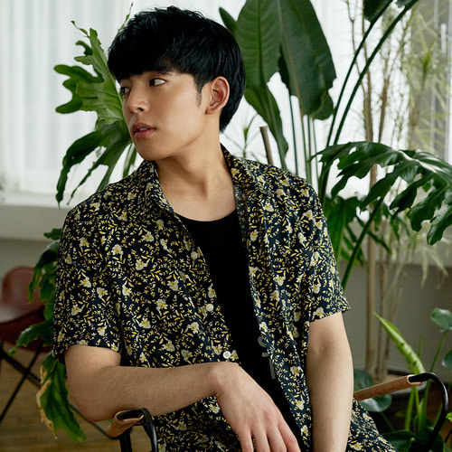 [OROR] R3-004 FLOWER SHIRTS - BLACK