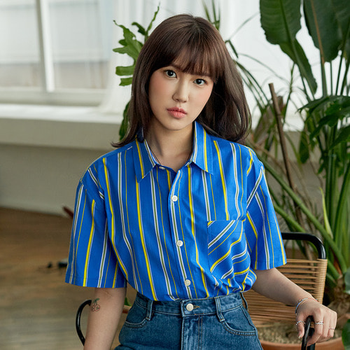 [OROR] R3-005 STRIPE SHIRTS - BLUE