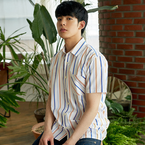 [OROR] R3-006 STRIPE SHIRTS - WHITE