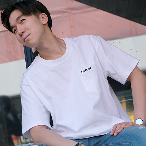 [OROR] R4-001 POCKET LOGO TEE - WHITE