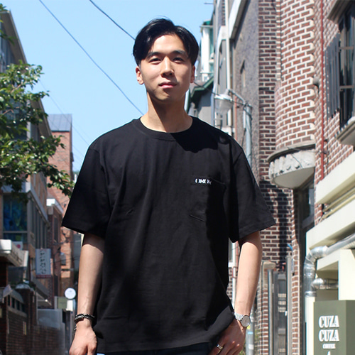 [OROR] R4-002 POCKET LOGO TEE - BLACK
