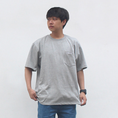 [OROR] R4-003 POCKET LOGO TEE - GRAY
