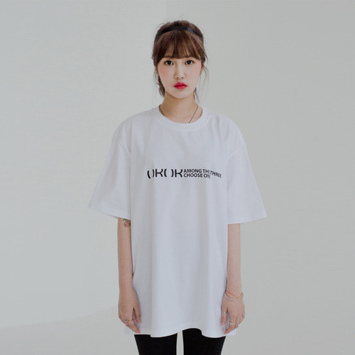 [OROR] R4-004 NO POCKET LOGO TEE - WHITE