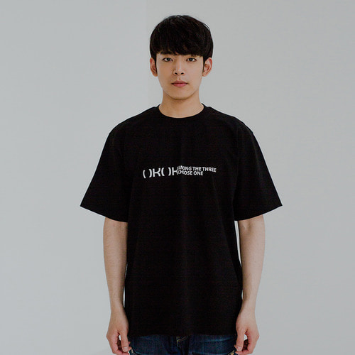 [OROR] R4-005 NO POCKET LOGO TEE - BLACK