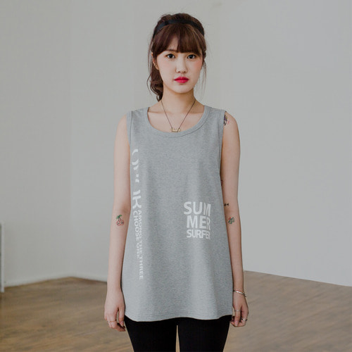 [OROR] R5-003 SUMMER SURFER SLEEVELESS TEE - GRAY