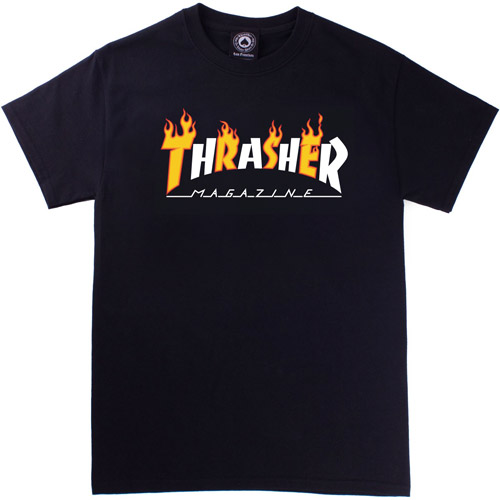 [Thrasher] Flame Mag S/S - Black