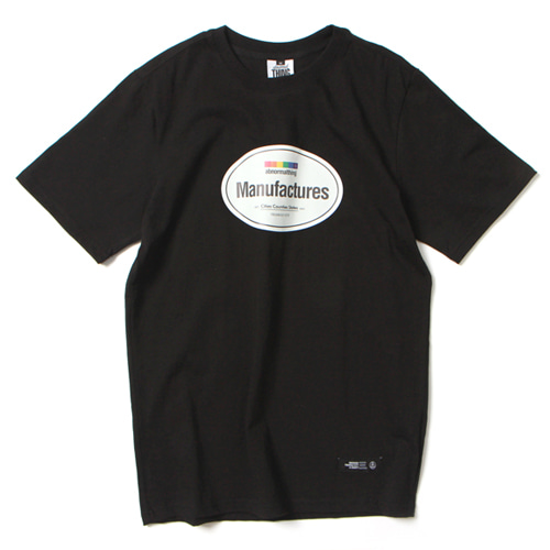 [앱놀머씽] Manufactures T-Shirt (Black)