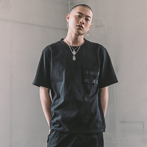 [CRUMP] Tech flavor back strap tee(TT0001)