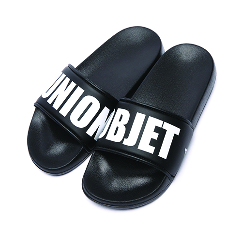 [Unionobjet] Union Big Logo Slipper - Black