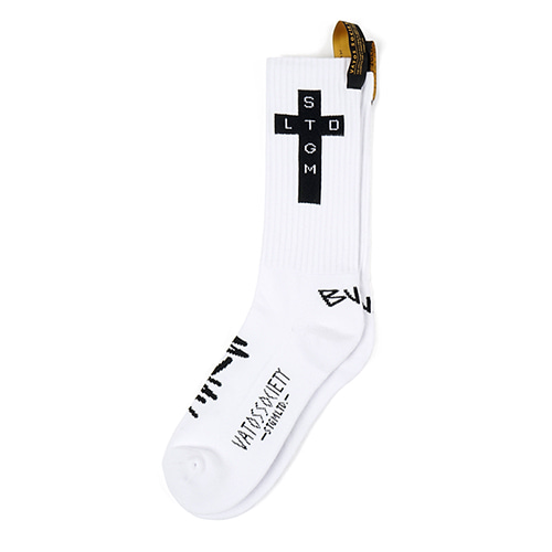 [STIGMA]CROSS SKATE SOCKS - WHITE
