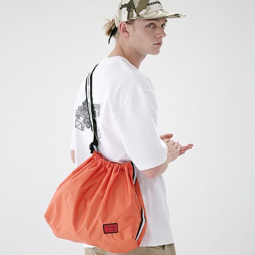 [MASSNOUN] LINE SL LOGO NYLON SHOULDER BAG MSEAB003-OR