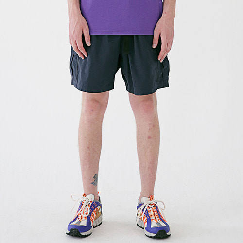 [MASSNOUN] SL LOGO CAMP CARGO SHORT PANTS MSESP003-NV