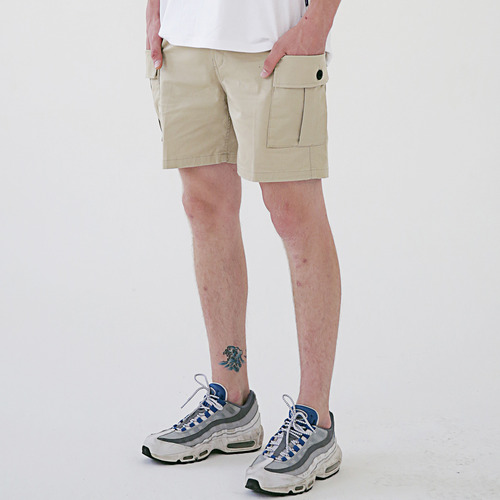 [MASSNOUN] MSNU TWO POCKET CARGO SHORT PANTS MSESP004-BG