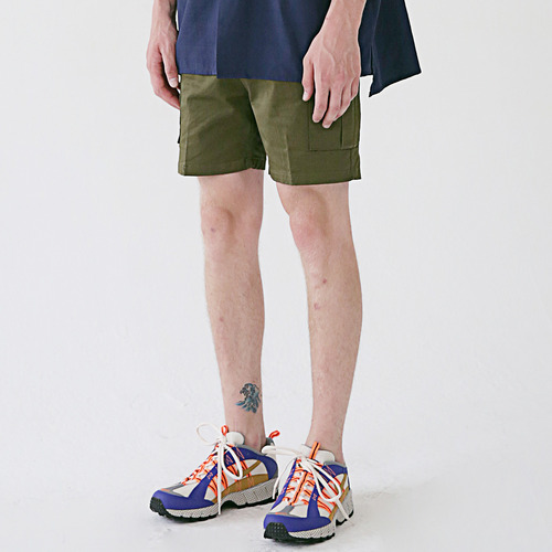 [MASSNOUN] MSNU TWO POCKET CARGO SHORT PANTS MSESP004-KK