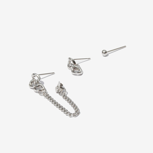 [RUSHOFF] Unisex Little Funky Earring 3set/리틀 펑키 이어링 3세트