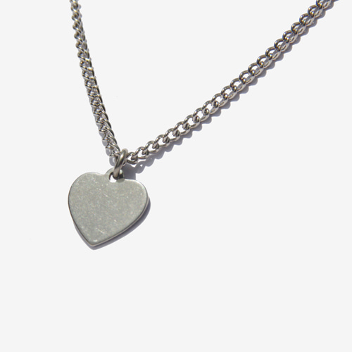 [RUSHOFF]Casual Heart Necklace/ 캐주얼 하트목걸이