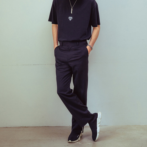[CHROMITE] Wide Slacks - Black