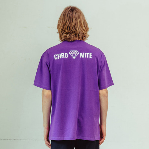 [CHROMITE] Logo T-Shirts - PURPLE
