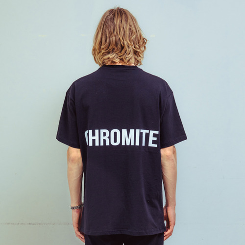 [CHROMITE] Banded T-Shirts - BLACK