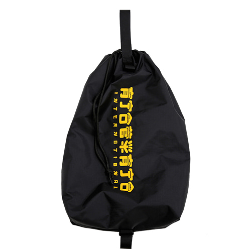 [AJOBYAJO FINK LABEL] CH Logo Drawstring Bag [Black/Yellow]