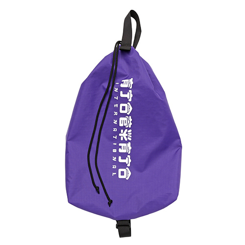 [AJOBYAJO FINK LABEL] CH Logo Drawstring Bag [Purple]