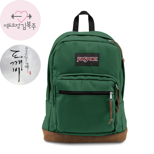 [JANSPORT] RIGHT PACK - BARBER GREEN (JSTYP72D6I1)