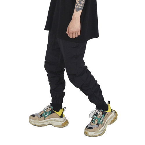 [Xsacky] Button Jogger Pants Black