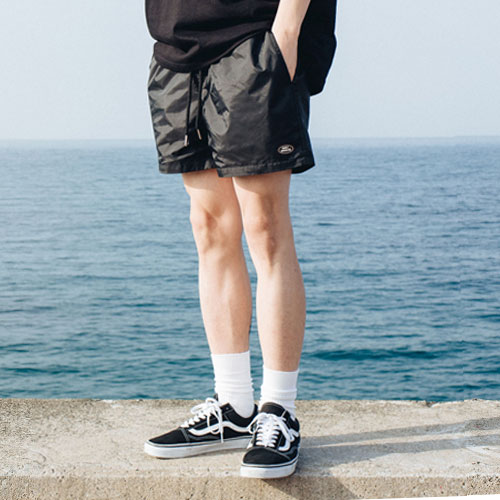 [Double adrenaline syndrome][남녀공용]Basic swim pants - black