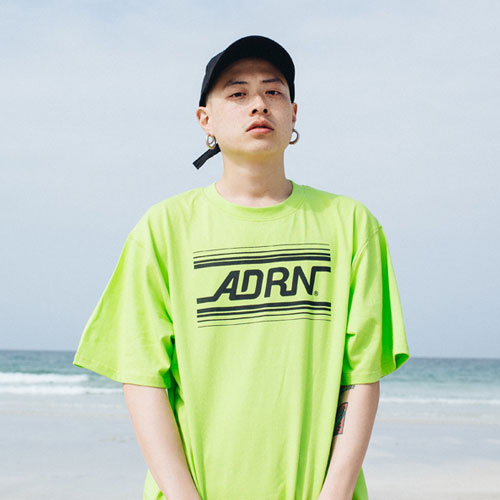 [Double adrenaline syndrome][남녀공용]ADRN line logo tee - lime